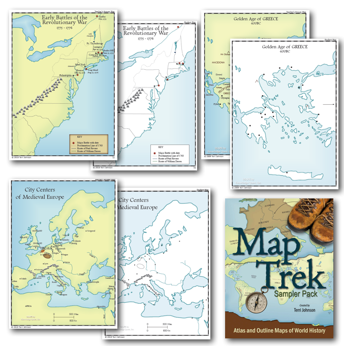 Map Trek Outline Maps Of The Ancient World - Historical outline map